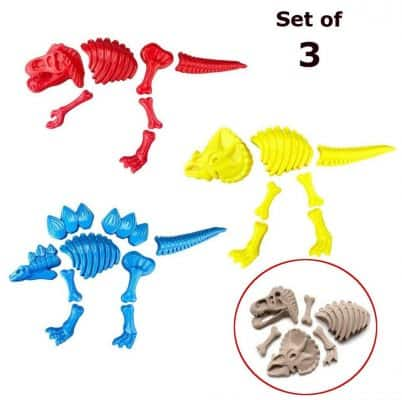 ToyZe 3 Large Dinosaur Sand Molds
