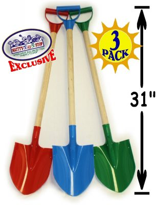 "Matty's Toy Stop 31"" Heavy Duty Wooden Kids Sand Shovels"