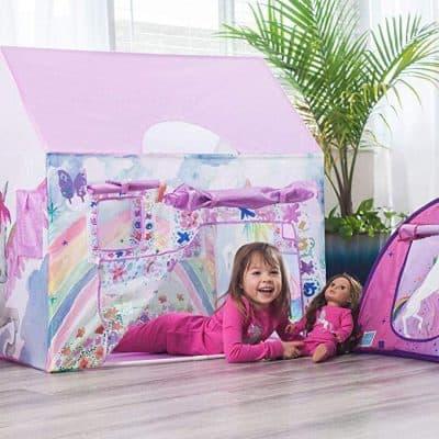 Bluenido Unicorn Playhouse Princess Tent for Girls