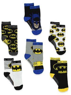 Batman Justice League Boys Athletic Crew Socks