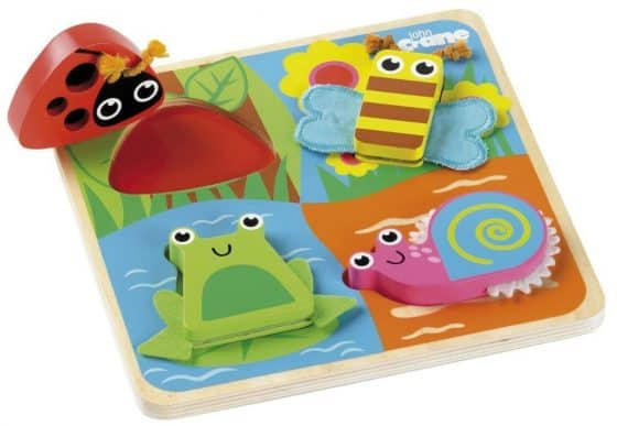 Tidlo Touch and Feel Shape Matching Wooden Bugs