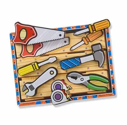 Melissa & Doug Tools Wooden Chunky Puzzle