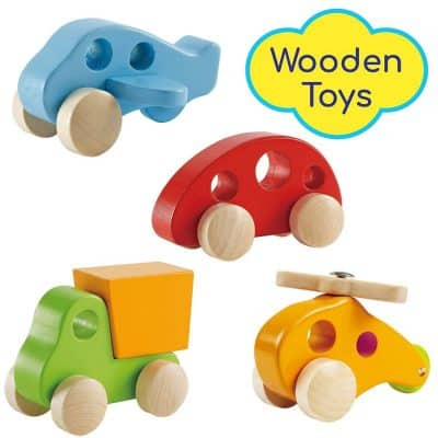 Wooden Cars Infant Toys