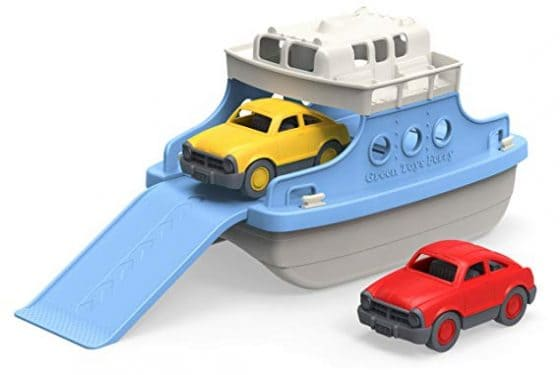 Green Toys Ferry Boat with Bathtub and Mini Cars