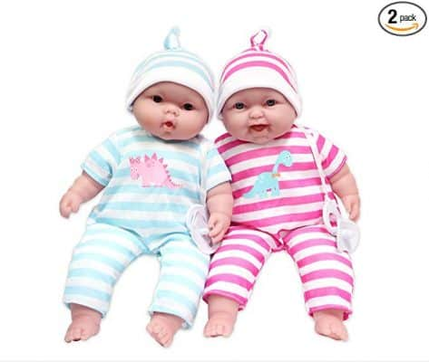 JC Toys 13-Inch Baby Soft Doll Soft Body Twins Designed by Berenguer
