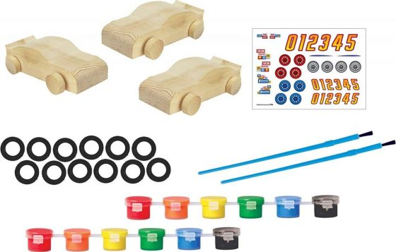 RoseArt RoseArt Wooden Speedway Racers Craft Kit Toy