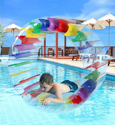 Greenco Kids Colorful Inflatable Water Wheel Roller