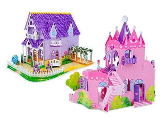 Melissa & Doug 3-D Puzzle Kits Set