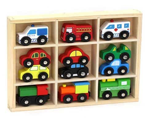 Wooden Train Cars & Emergency Vehicles