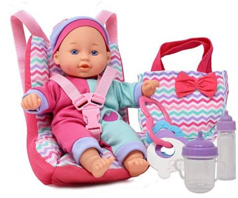 Dolls to Play Baby Doll Car Seat with Toy Accessories