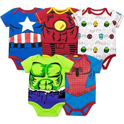 Marvel Baby Boys' 5 Pack Bodysuits