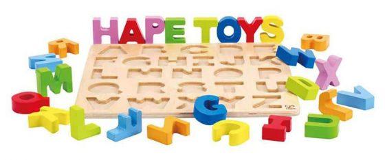 Hape Alphabet Wooden Stand Up Puzzle