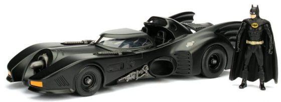 1:24 Scale Die-Cast Metal Vehicle 1989 Jada DC Batmobile