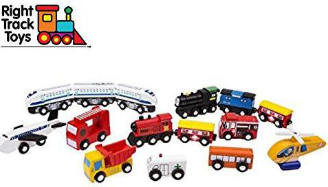 Right Track Toys Wooden Train Car Set