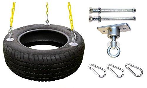 Eastern Jungle Gym Heavy Duty 3- Chain Rubber Tire Swing Seat