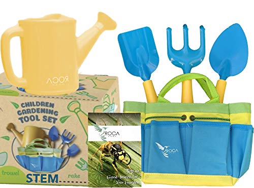 ROCA Home Kids Gardening Tools with STEM Learning Guide