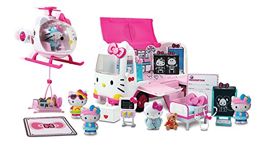 Jada Hello Kitty Rescue Set with Emergency Helicopter & Ambulance