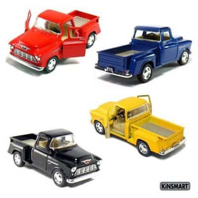Chevy Stepside Pull Back Action Cars