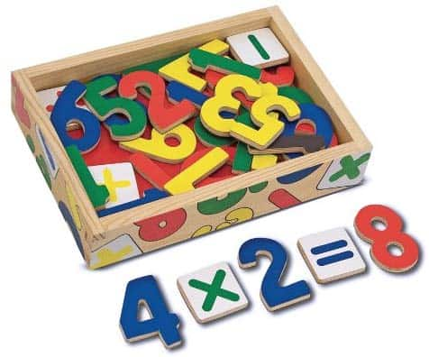 Melissa & Doug 37 Wooden Number Magnets