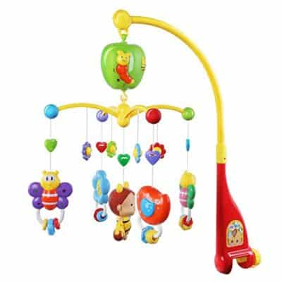 Growthpic Musical Mobile with Hanging Rotating Toys and Music Box