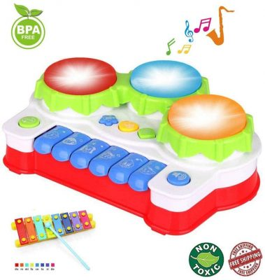 EXCOUP Baby Drum Musical Keyboard Toy