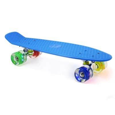 "Merkapa 22"" Complete Skateboard with Colorful LED Light Up Wheels"