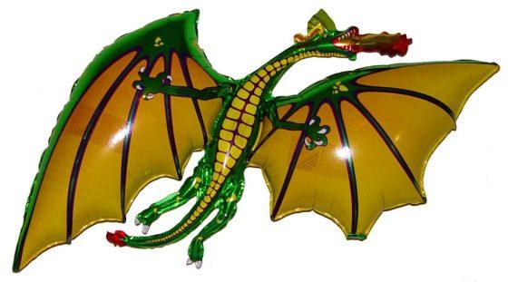 """Space Pet 36"""" Green Dragon"""