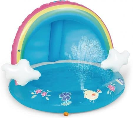 HIWENA Baby Pool Rainbow Splash Water Sprinkler
