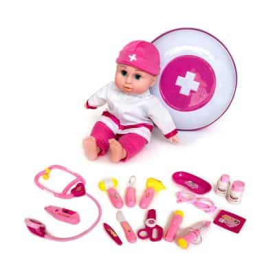 Joy Joy Toy Pretend & Play Doctor Medical KIt with Doll