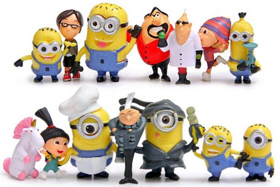 Norda Toys Cute Despicable Me Minions Character Action Figures