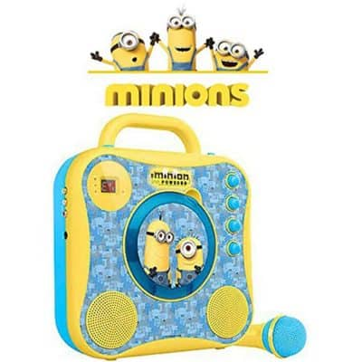 Singing Machine Minions CD+G Karaoke System with Wired Microphone