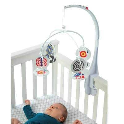 tumama Baby Musical Crib Mobile Baby Crib Hanging Toys with Projection and Night,Hanging Rotating Teether Rattle Baby Sleep Cot Mobile Toy Gifts for Newborn Infant Boys and Girls