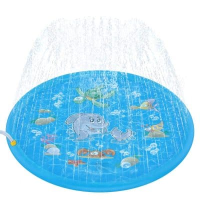 Tobeape 68 Inch Sprinkle and Splash Play Mat