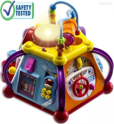 WolVol Educational Musical Activity Cube Play Center