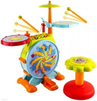 WolVol Electric Toy Drum Set