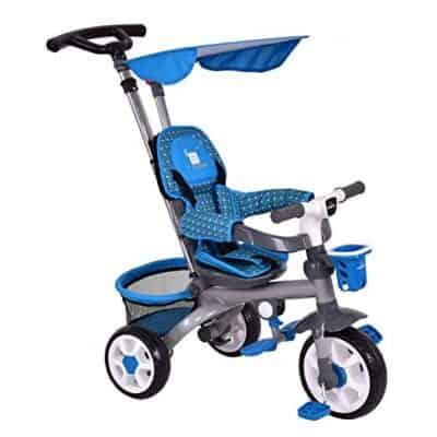 Costzon 4-in-1 Kids Tricycle Steer Stroller Toy Bike