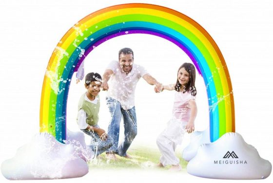 MeiGuisha Inflatable Rainbow Yard Summer Sprinkler