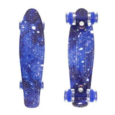 Wonnv Retro Mini Cruiser 22-Inch Complete Skateboard