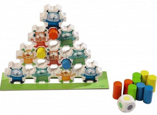 HABA Monster Pile on Wooden Stacking Game