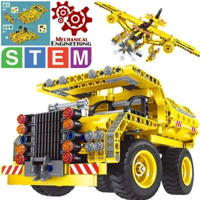 GGIENRUI Build and Play Toys Construction Engineering Learning Building Blocks for 5 Years Old and up Boys Girls Birthday 65pcs