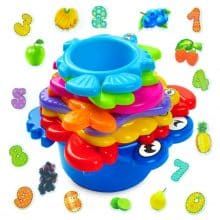 aGreatLife Stacking Cups Bath Toys for Toddlers