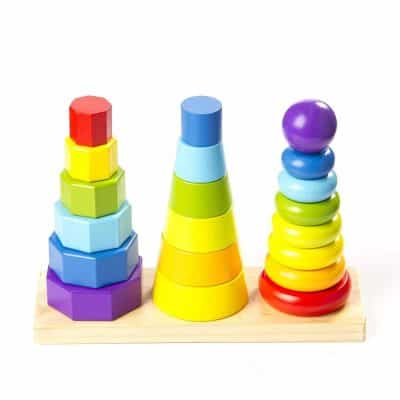 Fat Brain Toys Shape Tower GeoPeg Stacking Tower