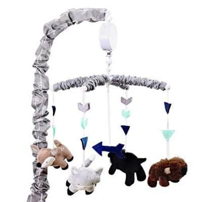 Woodland Trail Forest Animal Theme Digital Musical Crib Mobile