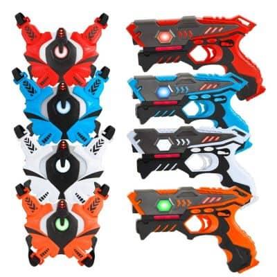 VATOS Infrared Laser Tag Gun 4 Player Set