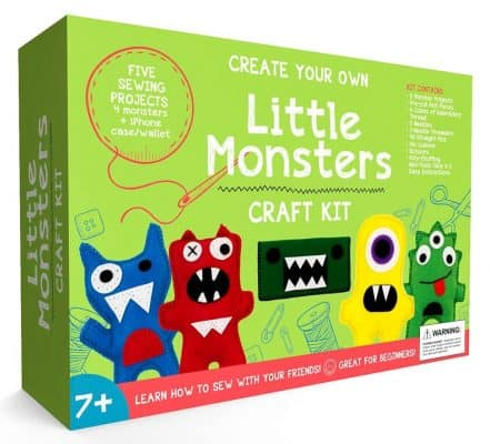 Craftster's Sewing Kits Little Monsters Beginners Sewing Craft Kit for Kids