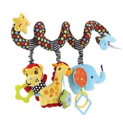 TOYMYTOY Spiral Stroller Elephant Educational Plush Toy