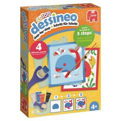 Dessineo 'Learn to Paint with Stencils' – Animals Arts & Crafts Kit