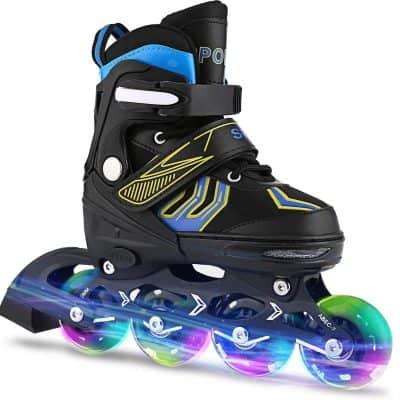 XinoSports Inline Roller Skates with Light Illuminating Wheels