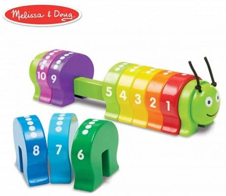 Melissa & Doug Counting Caterpillar Classic Wooden Toy