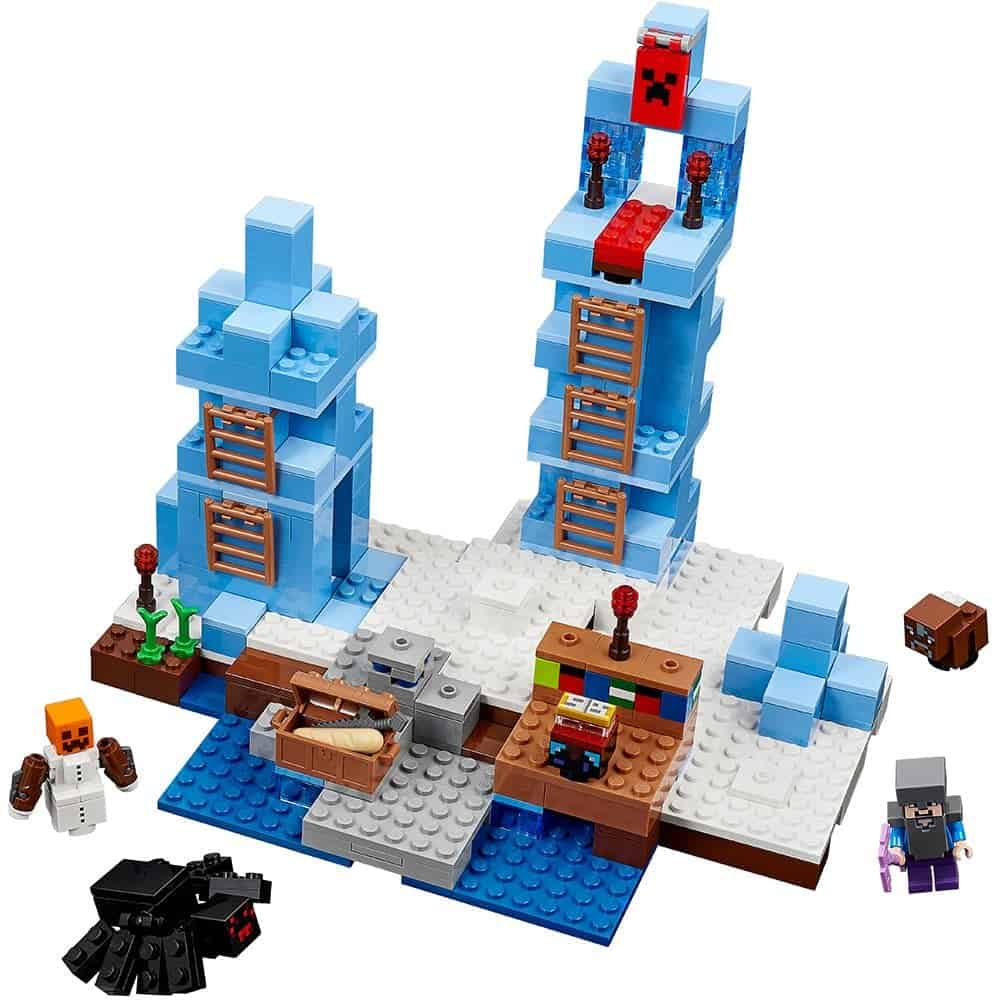 "21131 NEW LEGO Snow Golem Minecraft /""The Ice Spikes/"" Minifigure Head Post"